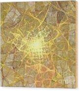 Saffron Wood Print