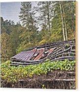 Sagging Rooftop 1 Wood Print