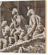 Sagrada Familia Barcelona Nativity Facade Detail Wood Print