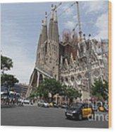 Sagrada Familia Barcelona Wood Print