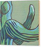 Saguaro 12 Wood Print