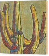 Saguaro 7 Wood Print