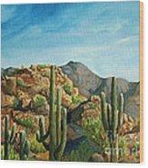 Saguaro Canyon Wood Print