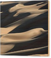 Sahara Sand Shadows Wood Print