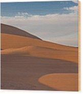 Sahara Sanddunes Wood Print