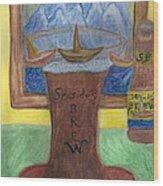 Sail A Head  Wood Print