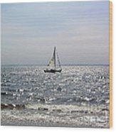 Sail Alone Wood Print
