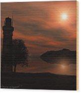Sail At Dusk Wood Print