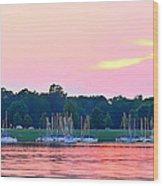 Sail Boats Pretty In Pink  Wood Print