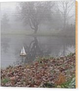 Sail To The Land Of Mist IIi Wood Print