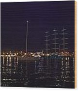 Sailboat And Maltese Hawk Wood Print