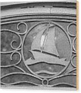 Sailboat On The Boathouse Wood Print