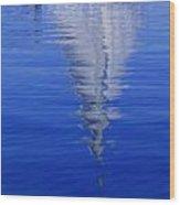 Sailboat On Water Wood Print