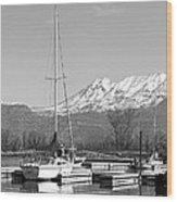 Sailboats At Utah Lake State Park Wood Print by Tracie Kaska
