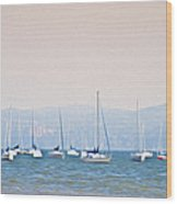 Sailboats On The Hudson - Nyack New York Wood Print