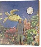 Sailfish Splash Park Mural 7 Wood Print