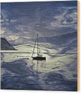 Sailing Boat Wood Print by Joana Kruse