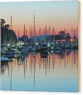Sailing Boats In Coal Harbour Wood Print