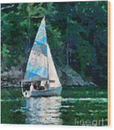Sailing Cave Run Lake Wood Print
