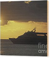 Sailing Into The Sun Cozumel Mexico Wood Print