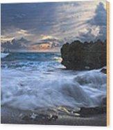 Sailing On The Silk Blue Sea Wood Print