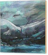 Sailing Over The Sea Wood Print