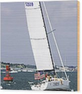 Sailing The Icw Wood Print