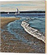 Sailing The Puget Sound Wood Print