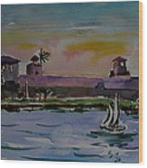 Sailing To The Spanish Fort Wood Print
