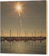 Sailing Under The Sun White Rock Bc Wood Print