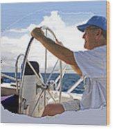 Sailing With Capt. Tom Wood Print