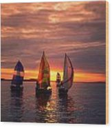 Sailing Yachts Wood Print