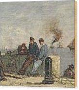 Sailors Wood Print