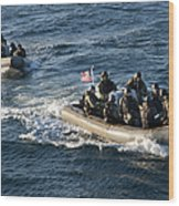 Sailors Participate In A Visit, Board Wood Print