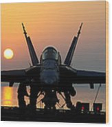 Sailors Prepare An Fa-18c Hornet Wood Print