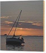 Sailor's Sunset Wood Print