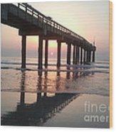 Saint Augustine Beach Sunrise Wood Print