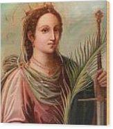 Saint Catherine Of Alexandria Painting Wood Print