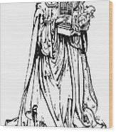 Saint Cecilia Wood Print by Granger