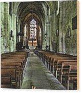 Saint Emilion Church Wood Print