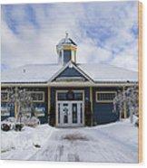Saint John River Centre Wood Print