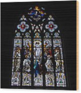 Saint Johns Stained Glass Wood Print