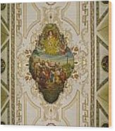 Saint Louis Cathedral Mural Wood Print