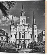Saint Louis Cathedral Wood Print