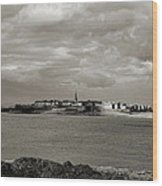 Saint-malo From Dinard. Wood Print
