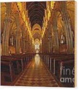 Saint Marys Church Interior 3 Wood Print
