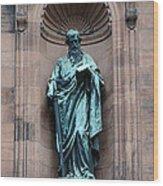 Saint Peter Statue - Historic Philadelphia Basilica Wood Print