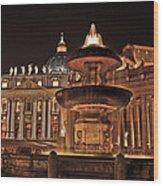 Saint Peter's Basilica Wood Print