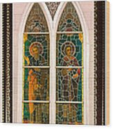 Saints In The Window Wood Print