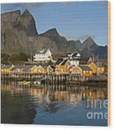 Sakrisoy Fishermen's Village Wood Print